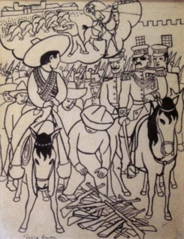 Diego Rivera-Escena revolucionaria-