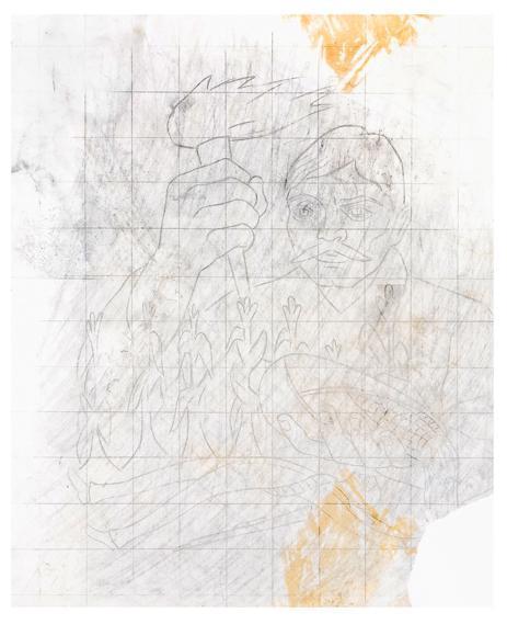 Diego Rivera-Zapata 1953. Boceto para Historia del Teatro en Mexico-1953