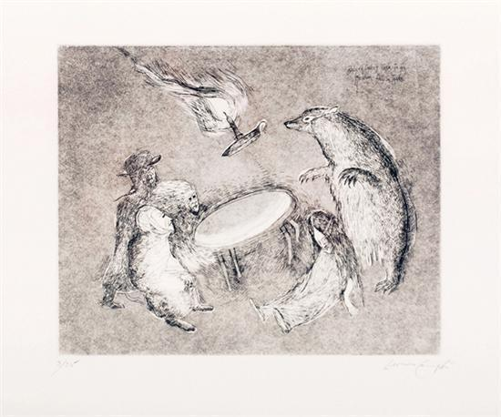 Leonora Carrington-Badger causa que la mesa vuele-