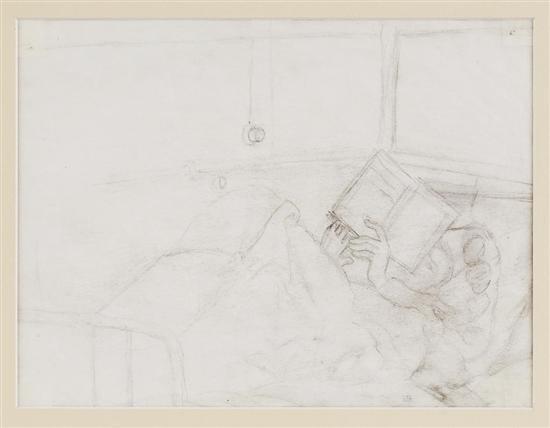 Diego Rivera-Hombre leyendo-