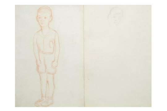 Diego Rivera-Boceto para el retrato de Carlos Prieto, nino-1939