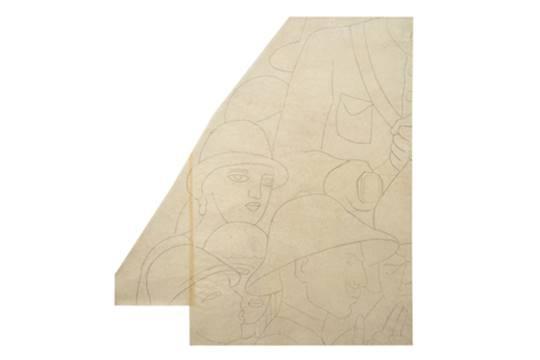 Diego Rivera-Boceto para el proyecto de la escalera de Palacio Nacional-1930