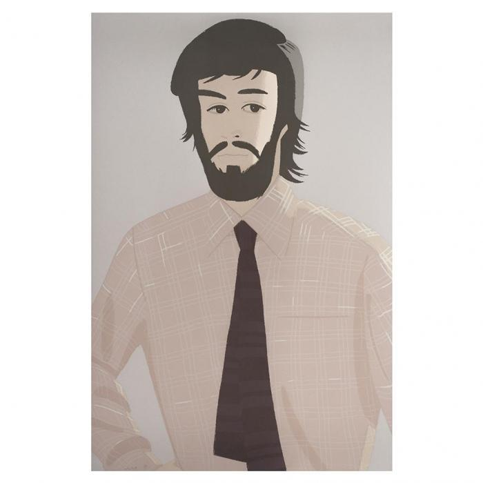 Alex Katz-Plaid Shirt 1 (Maravell 127)-1981