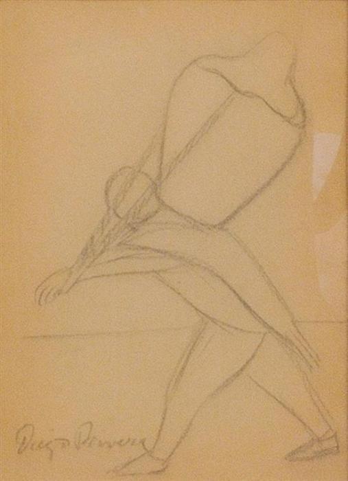 Diego Rivera-Cargador/Bailarina I/Bailarina II/Cantero-