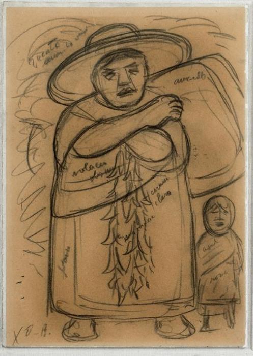Diego Rivera-Campesina con nino-