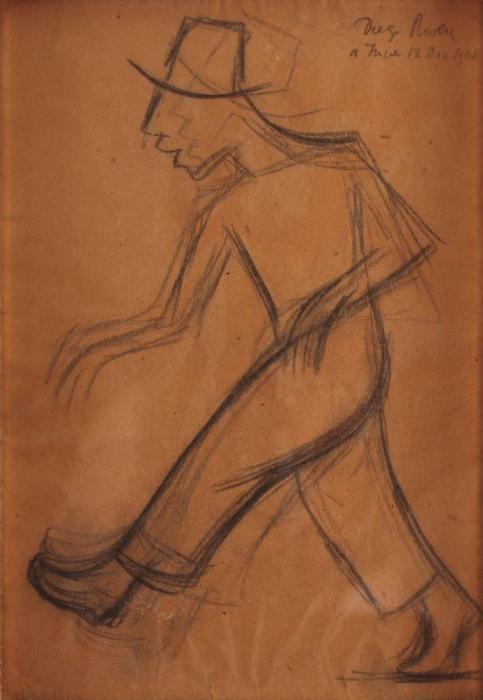 Diego Rivera-Hombre caminando-1948