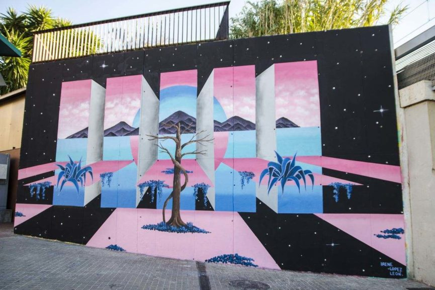 12+1 Wall for Contorno Urbano. Street Art Festival Barcelona. 2017