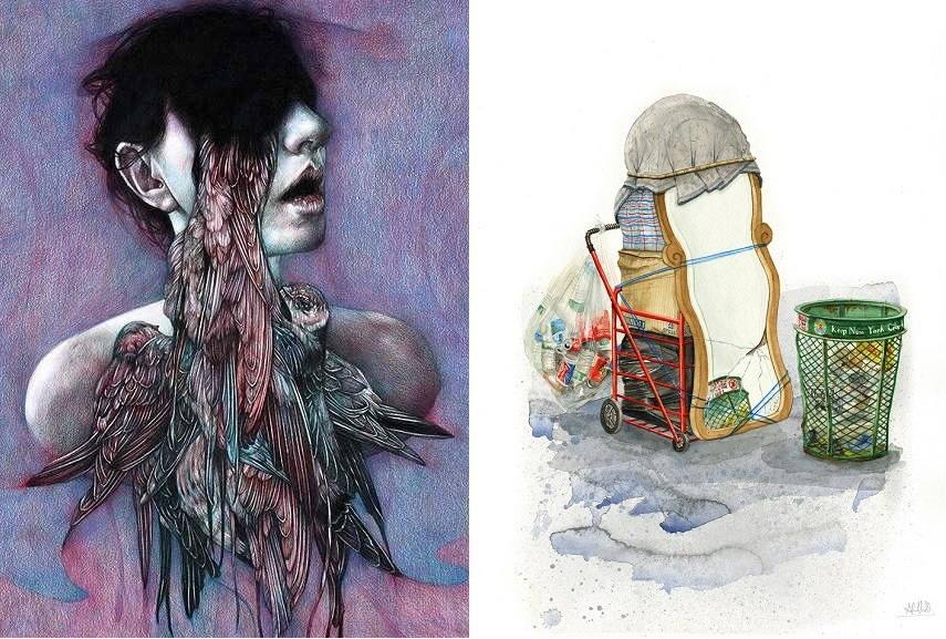 Left Marco Mazzoni artwork. Right Alvaro Naddeo - Tampa