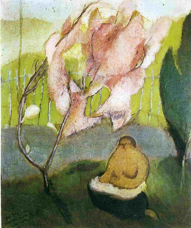 Marcel Duchamp-Le courant d'air sur le pommier du Japon (Draft on the Japanese Apple Tree)-1911