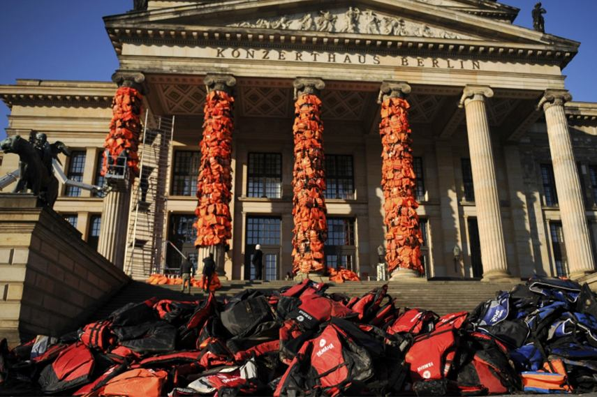 14,000 life jackets in Ai Weiwei's latest project in Berlin
