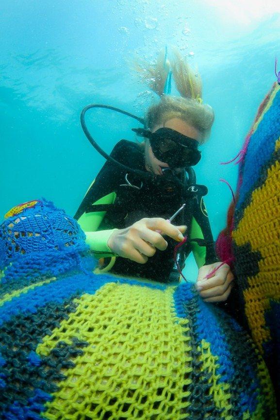 Olek`s Underwater Crocheting