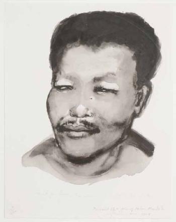 Marlene Dumas-A Portrait of a Young Nelson Mandela-2008