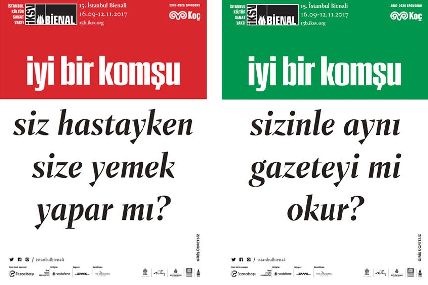 15th Istanbul Biennial Posters