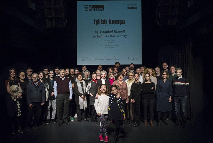 15th Istanbul Biennial team, photo by Ilgin Erarslan Yanmaz