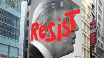 """Resist"""" by Sarah Crowner and Nicky Marino"""