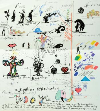 Niki de Saint Phalle-Stravinsky Fountain-