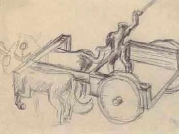 Le Corbusier-Studie, Pferdegespann-1930