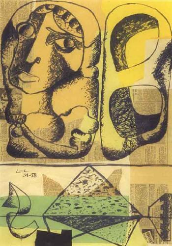 Le Corbusier-Nature morte a la bohemienne-1958