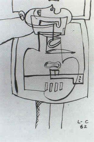 Le Corbusier-Ubu, bois-1962