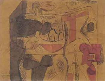 Le Corbusier-Composition avec personnages-1939