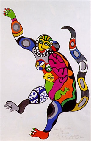 Niki de Saint Phalle-Monkey with Child-1995