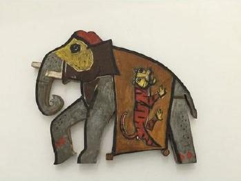 Maqbool Fida Husain-Elephant-