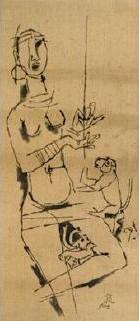 Maqbool Fida Husain-Untitled-1974