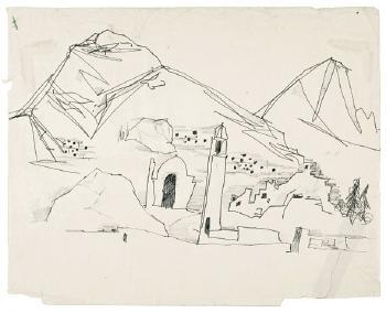 Maqbool Fida Husain-Drawings from Kabul-1965