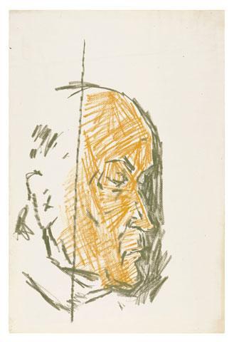 Maqbool Fida Husain-Three Portraits-1970