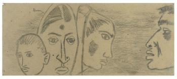 Maqbool Fida Husain-Untitled-1956