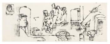 Maqbool Fida Husain-Interior Scenes-1962