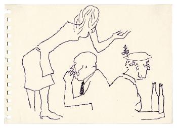 Maqbool Fida Husain-Pages of a London Sketchbook-1966