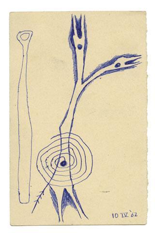 Maqbool Fida Husain-A Group of Seven Postcards-1962