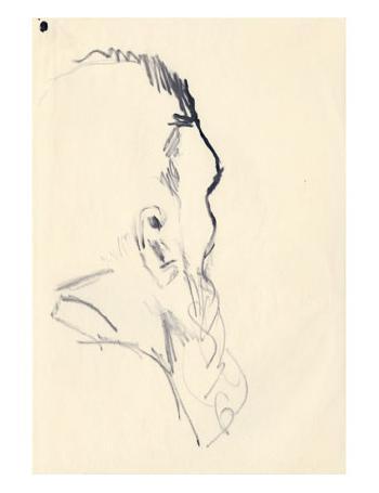 Maqbool Fida Husain-Self Portrait-1960