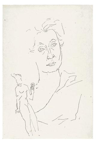 Maqbool Fida Husain-Portraits of Indira Gandhi-1970