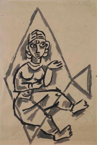 Maqbool Fida Husain-Untitled-1950