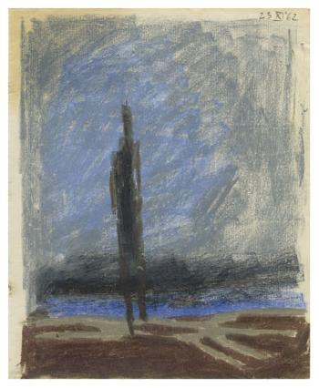 Maqbool Fida Husain-Untitled (A Group of Five Coloured Works)-1962