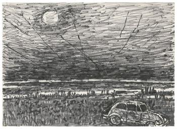 Maqbool Fida Husain-A Group of Four Landscapes-1960