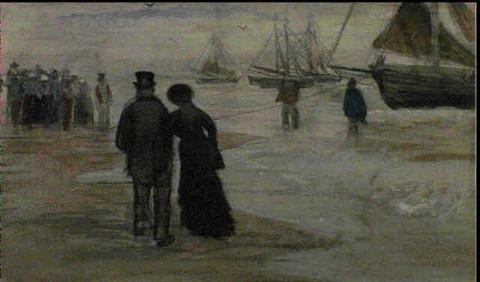 Vincent van Gogh-Sur la plage de Scheveningen, automne-1882