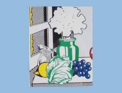 Roy Lichtenstein-Still life with cabbage-