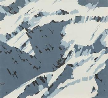 Gerhard Richter-Schweizer Alpen I B1, B2 (Swiss Alps I B1, B2)-1969
