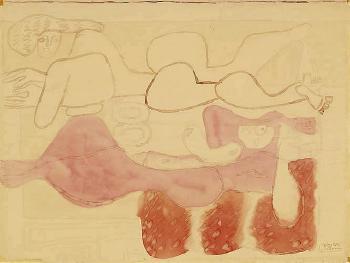 Le Corbusier-Zwei liegende Akte-1939