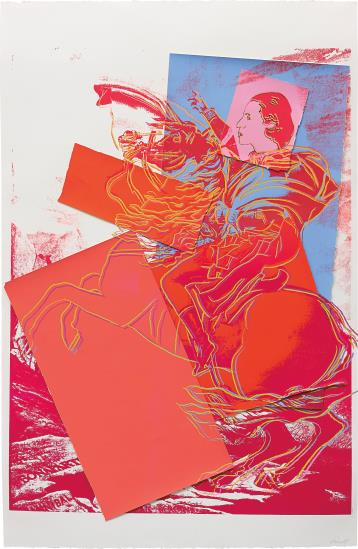 Andy Warhol-Diana Vreeland Rampant (after Jacques-Louis David, Napoleon at St. Bernard)-1984