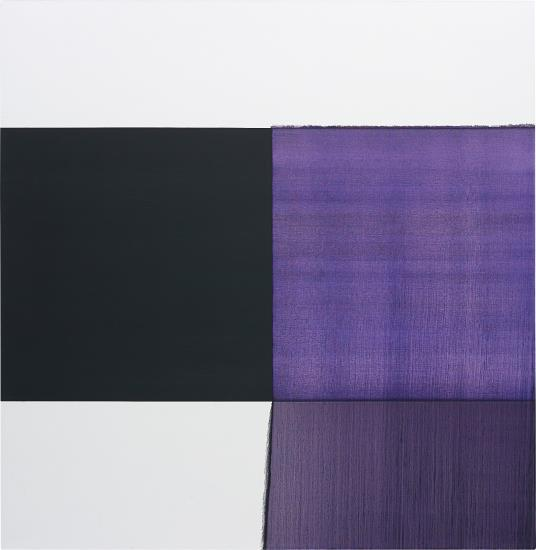 Callum Innes-Exposed Painting, Cobalt Violet-2007