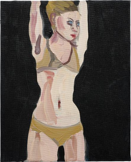 Chantal Joffe-Brunette in a Gold Bikini-2009