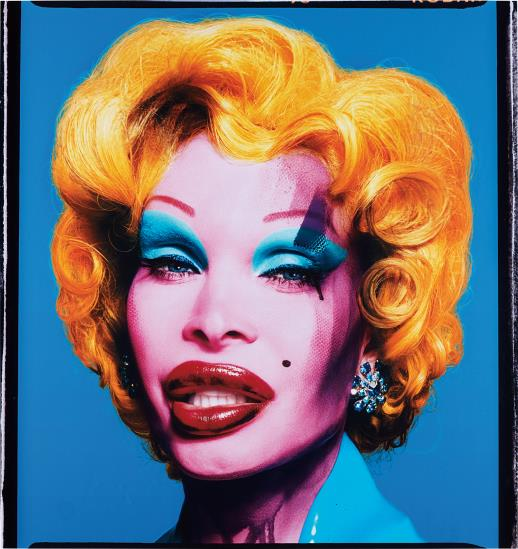 David LaChapelle-Amanda as Andy Warhol's Marilyn (blue)-2007