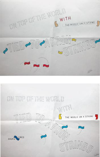 Lawrence Weiner-Two works: (i) Untitled (On Top of the World Rhumb Lines); (ii) Untitled (On Top of the World)-2004
