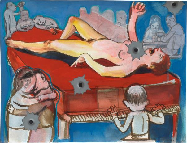 Nicole Eisenman-Night of the cheer with a spray of Bullets-2005