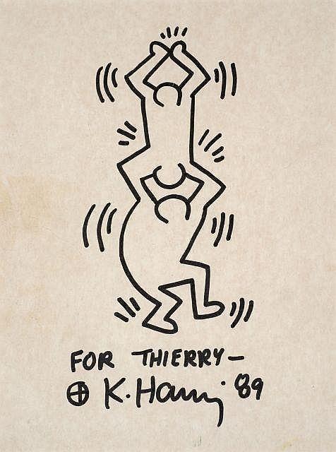 Keith Haring-Sans Titre (Deux Acrobates)-1989