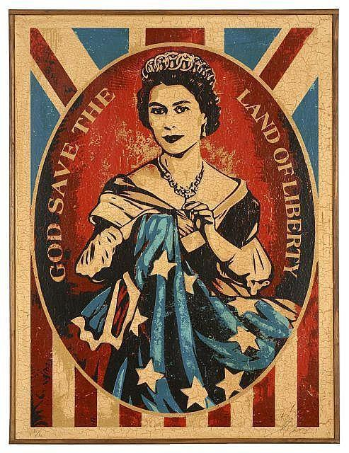 Shepard Fairey-God Save The Queen-2010